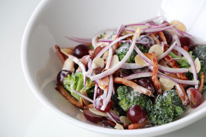 broccolli salad grapes