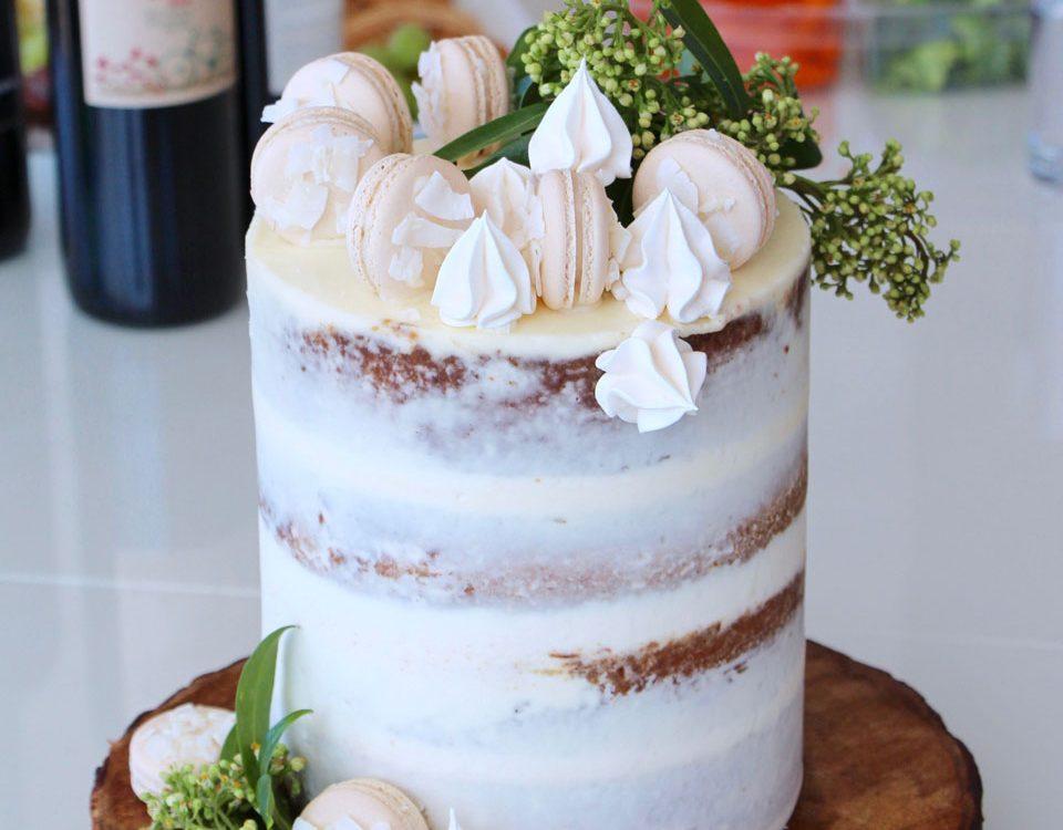 tall cake semi naked buttercream